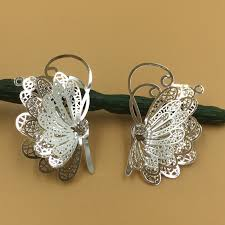 hair clasps 25 40mm vintage filigree butterfly charms pendant bu yao