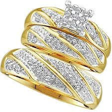 Wedding Ring Sets For Him And Her White Gold by Amazon Com 0 30 Carat Ctw 10k Yellow Gold Round Cut Diamond Men