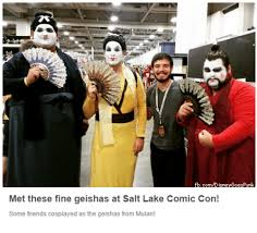 Comic Con Meme - mdisnevgoespunk met these fine geishas at sat lake comic con some
