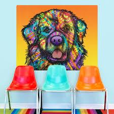 newfoundland nose dean russo dog wall decal pop art wall decor zoom