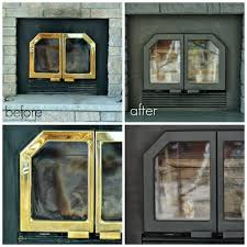 painted fireplace doors and vents
