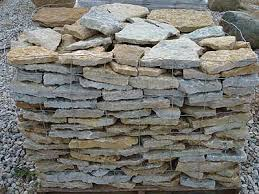 flat rock wall stone garden wall indianapolis landscaping