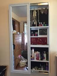 Bathroom Mirror Storage Cabinet Diy Sliding Mirror Jewelry Cabinet From A Wall Mirror Master