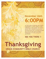 thanksgiving church flyer template flyer templates