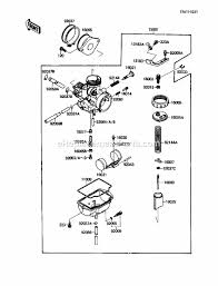 kawasaki klf110 a2 parts list and diagram 1988