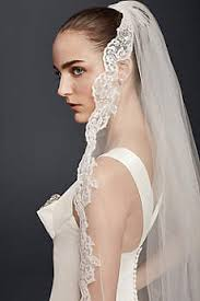 bridal veil cathedral veils lace blushers more david s bridal