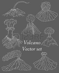 volcano erupting vector illustration volcano seamless pattern