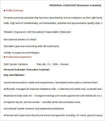 Ceo Assistant Resume Personal Assistant Resume 4 Free Word Pdf Documents Download