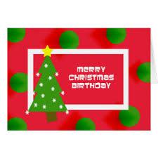 Merry Birthday Card Christmas Birthday Cards Merry Christmas Happy New Year 2018