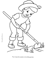 Coloring Page On The Farm Farm Color Page