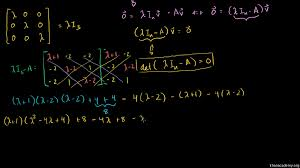 eigenvectors and eigenspaces for a 3x3 matrix video khan academy