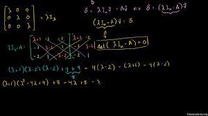 eigenvectors and eigenspaces for a 3x3 matrix video khan academy
