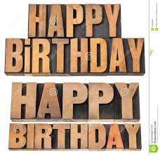 happy birthday in wood type stock photo image 29994680