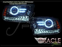 oracle 13 16 dodge ram w pro led dual color halo rings headlights