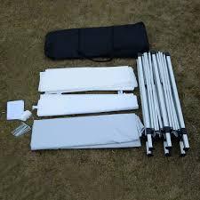 Heavy Duty Gazebo Bag by 10 U0027 X 20 U0027 Total Iron Folding Wedding Tent With Cloth Canopies