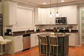 White Tile Backsplash Kitchen Great Painted Kitchen Cabinets Brick Subway Tile Backsplash Ideas