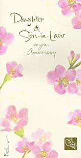 Anniversary Wishes To Daughter And Amazon Com Daughter And Son In Law Anniversary Anniversary
