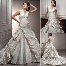 two color wedding dress wa01000 the shoulder low back white lace wedding