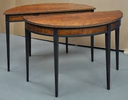 half moon kitchen table and chairs vintage living room with finished pair half round table and 2 piece
