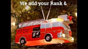 light up led fire engine ornament free customization youtube