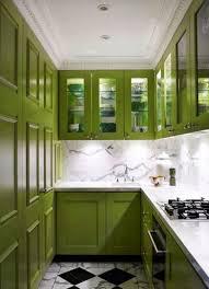 green kitchen ideas kitchen narrow u shape green kitchen cabinet with glass door and