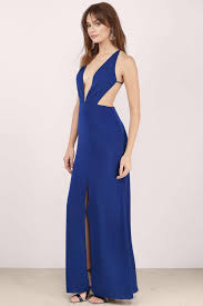 formal dresses navy dress backless dress royal blue gown maxi dress