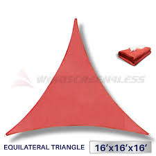 Canopy Triangle Sun Shade by Windscreen4less Shade Sails