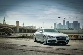 2012 audi a7 fitted with 22 inch bd 3 u0027s in silver machined face