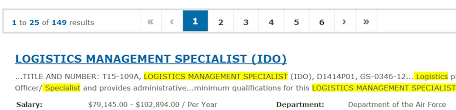 Logistics Management Specialist Resume Want A Stable Federal Job In Logistics The Resume Place