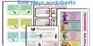 english teaching worksheets role plays