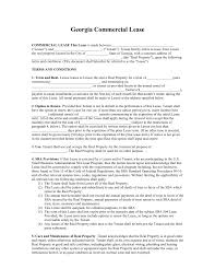 Free Lease Agreement Free Download Georgia Commercial Lease Agreement Sample With 5