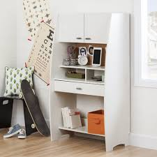 office attractive girls desk and hutch in white finish crafted