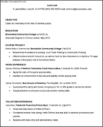 Sample Resume Objectives Retail by Criminal Justice Cover Letter