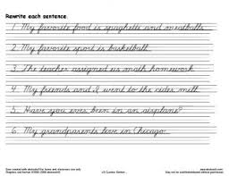 free printable cursive writing sentences worksheets best 25