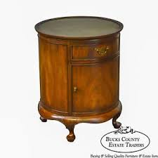 hekman desk leather top hekman mahogany round leather top queen anne cylinder drum table w