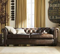 Square Chesterfield Sofa by Chesterfield Leather Sofa Collection Pottery Barn Au