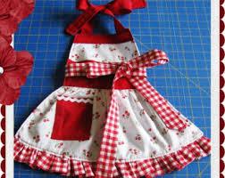 ruffle bottom toddler apron children s sewing pdf pattern