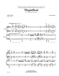 magnificat ssaa by z randall stroope j w pepper sheet