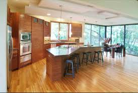 wonderful large kitchen ideas with high chairs and wooden cabinet