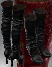 everyday motorcycle boots chic boots for v4 a4 3d models and 3d software by daz 3d