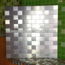 self adhesive kitchen backsplash self adhesive back metal tile mosaic for backsplash buy tile