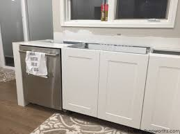 kitchen sink cabinet with dishwasher creating a wrap around cabinet moving the dishwasher