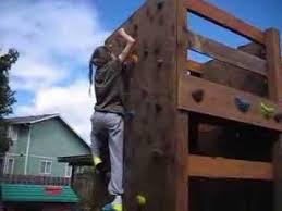 backyard rock climbing wall youtube