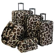 Animal Print Furniture by Amazon Com American Flyer Luggage Animal Print 5 Piece Set