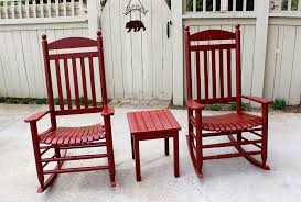 Red Rocking Chairs Rocking Chairs In Tuscan Red Milk Paint General Finishes Design