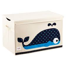 3 sprouts whale toy storage box with handles the container store