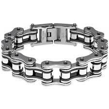 steel link bracelet images Stainless steel men 39 s large link bracelet free shipping on jpg