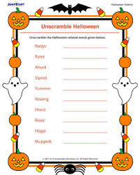 unscramble halloween u2013 free printable halloween activity for kids