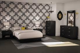 bedroom black white room wallpaper 1 sfdark