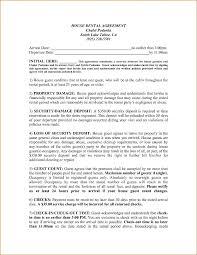 example of house rental agreement template templatezet